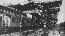 It took only a few days to repair Schweinfurt railway station, after the unsuccessful American raid against the city.